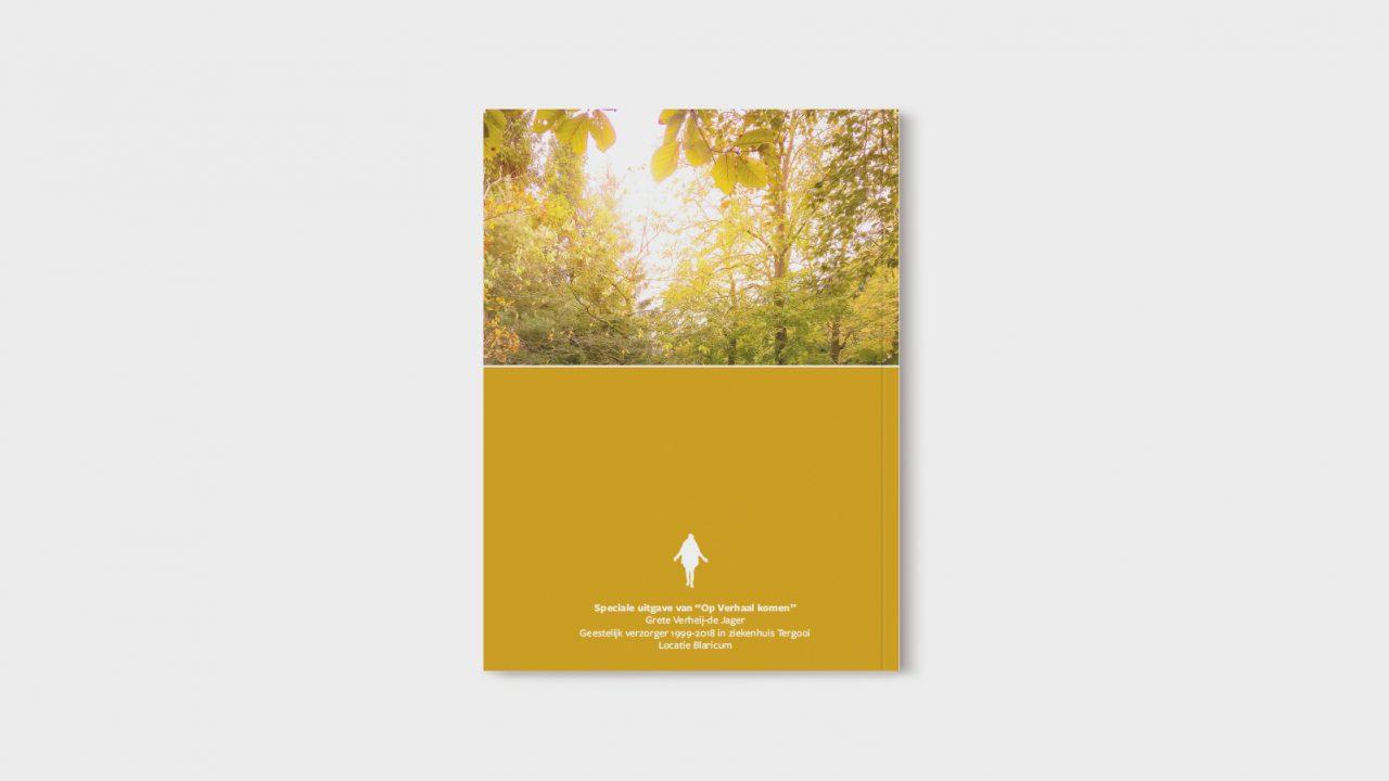 """Boek ontwerp voor het boek """"Op verhaal komen"""""""
