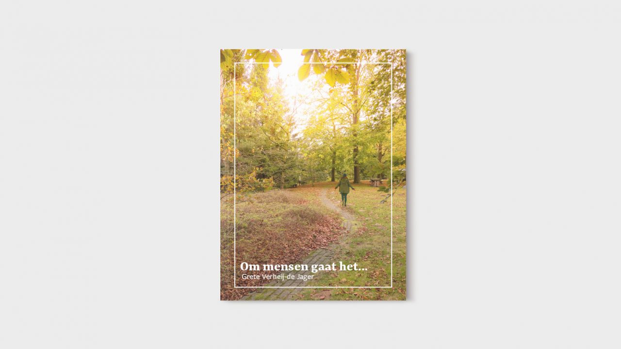 """Boek ontwerp voor het boek """"Om mensen gaat het"""""""