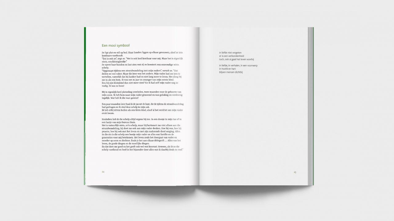 foto van een spread boekontwerp