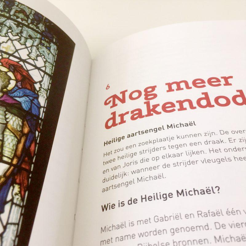 Foto van de binnenkant van het boek Joris