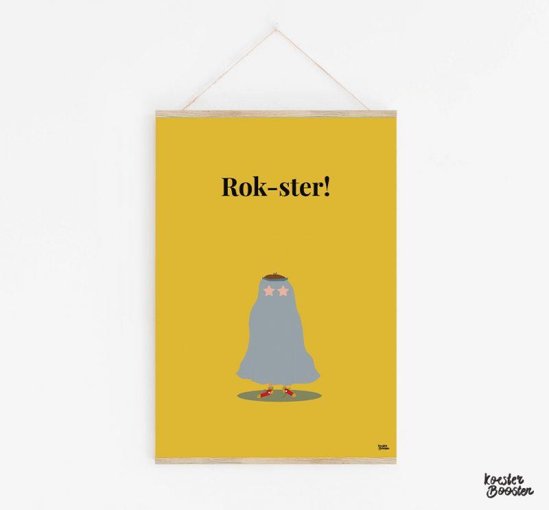 foto van een koesterposter met de tekst Rok-ster!