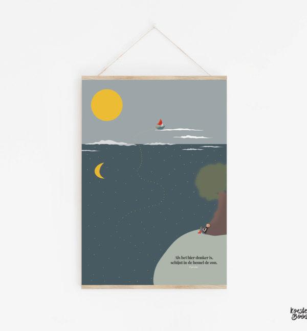 koesterposter met illustratie op maat studio koester booster